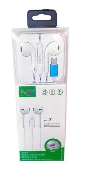 Auricular lightning compatible Apple con cable para IPHONE + MICRO