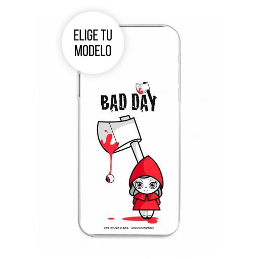Funda Gel Silicona Bad Day - Red Girl TCL 20L / 20L Plus / 20S / 20 5G