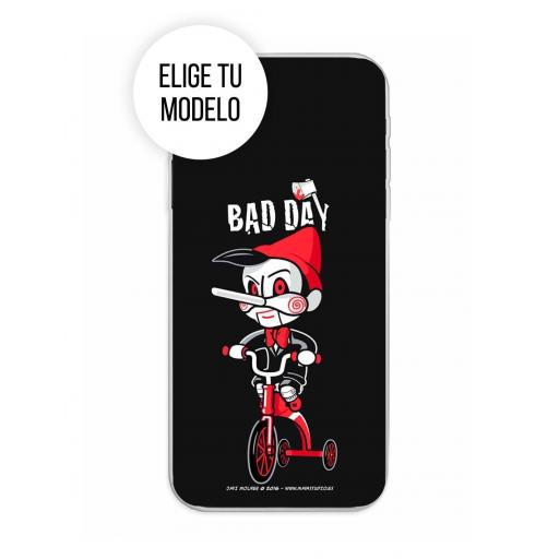 Funda Gel Silicona Bad Day - Tricicle TCL 20L / 20L Plus / 20S / 20 5G