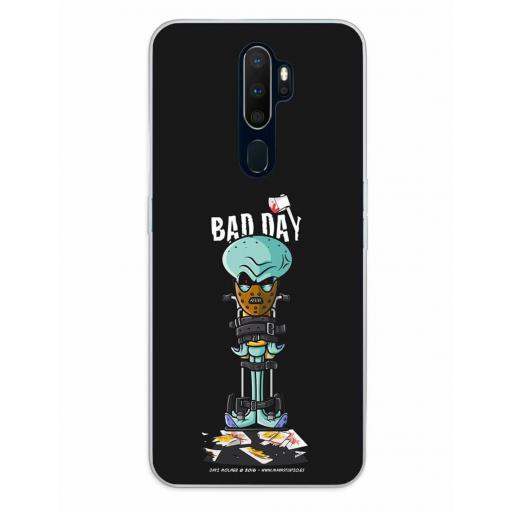 Oppo A5 (2020) / A9 (2020) Funda Silicona Bad Day Crazy