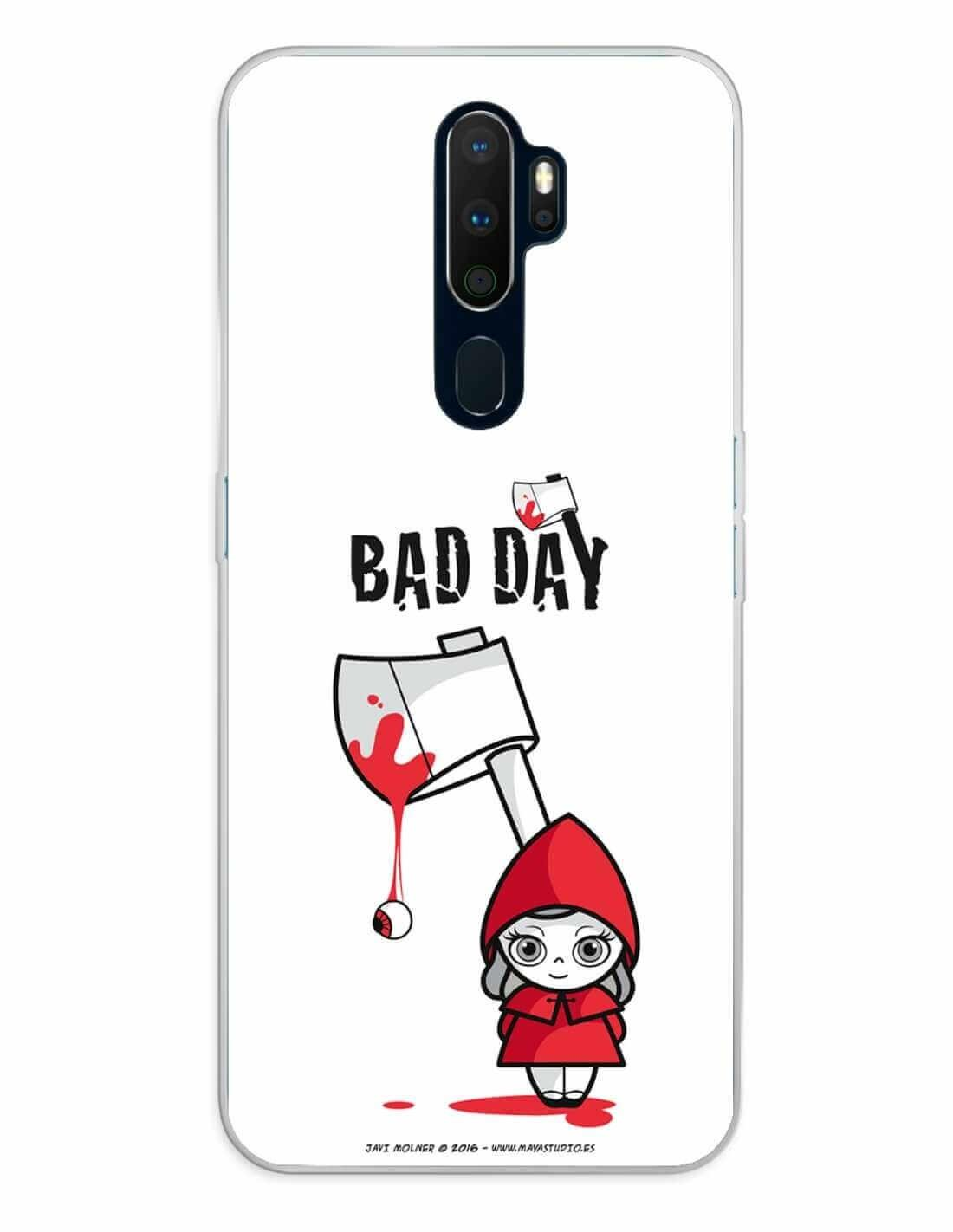 Oppo A5 (2020) / A9 (2020) Funda Silicona Bad Day Red Girl