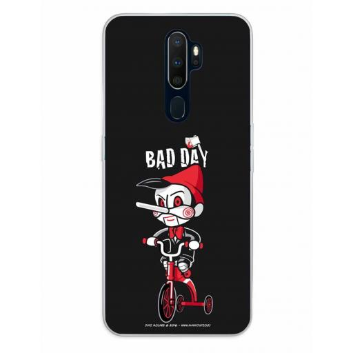 Oppo A5 (2020) / A9 (2020) Funda Silicona Bad Day Tricicle