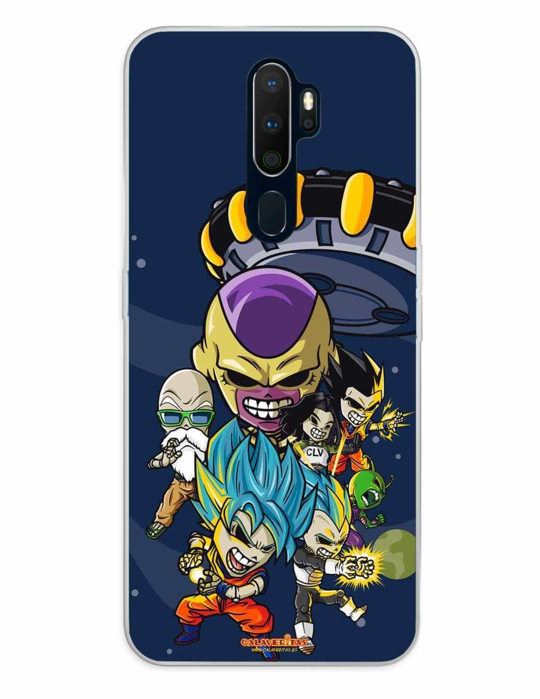 Oppo A5 (2020) / A9 (2020) Funda Silicona Calaveritas Skull Fighters 4