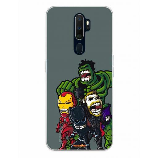 Oppo A5 (2020) / A9 (2020) Funda Silicona Calaveritas The Fighters 2