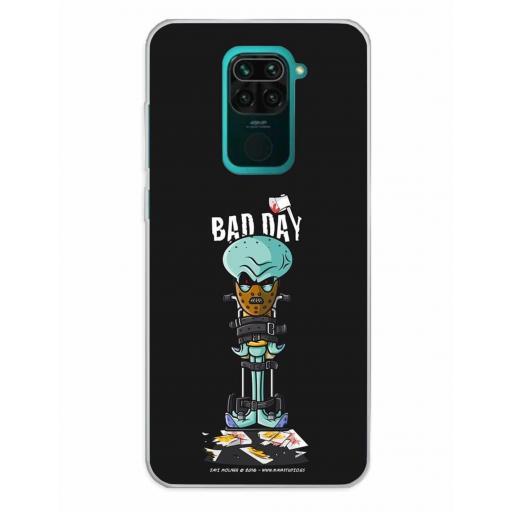 Xiaomi Redmi Note 9 Funda Silicona Bad Day Crazy
