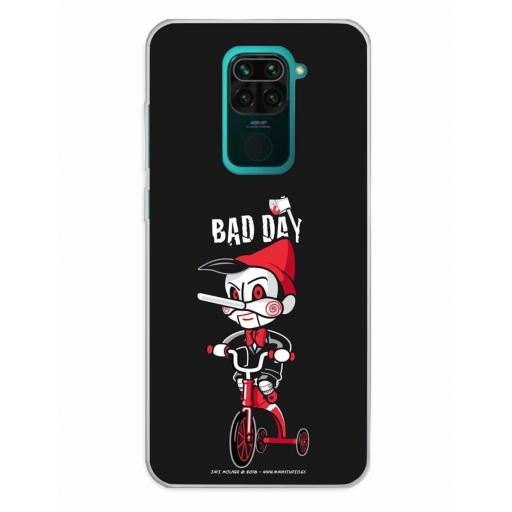 Xiaomi Redmi Note 9 Funda Silicona Bad Day Tricicle