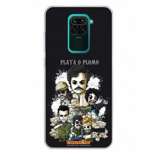 Xiaomi Redmi Note 9 Funda Silicona Calaveritas Corruption