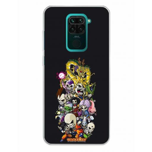 Xiaomi Redmi Note 9 Funda Silicona Calaveritas Skull Fighters 1