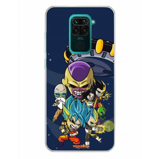 Xiaomi Redmi Note 9 Funda Silicona Calaveritas Skull Fighters 4