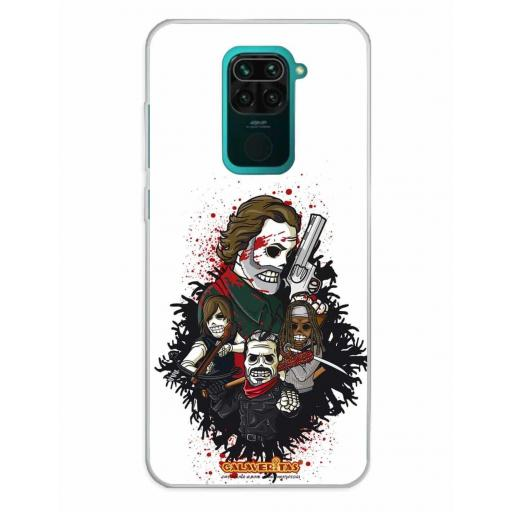 Xiaomi Redmi Note 9 Funda Silicona Calaveritas Survivors
