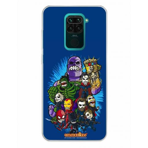 Xiaomi Redmi Note 9 Funda Silicona Calaveritas The Fighters