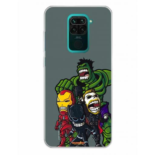Xiaomi Redmi Note 9 Funda Silicona Calaveritas The Fighters 2