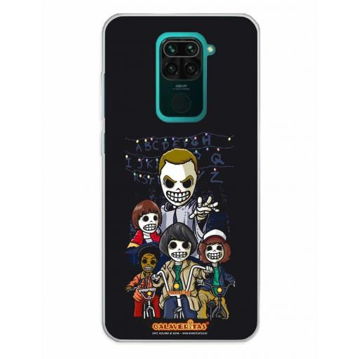 Xiaomi Redmi Note 9 Funda Silicona Calaveritas The Five