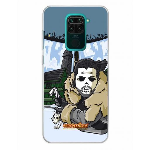 Xiaomi Redmi Note 9 Funda Silicona Calaveritas The Wall