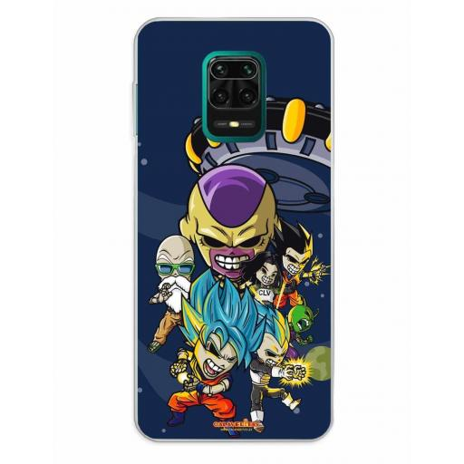 Xiaomi Redmi Note 9S / Redmi Note 9 Pro / Redmi Note 9 Pro Max Funda Silicona Calaveritas Skull Fighters 4