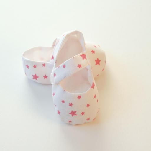 Chaussuresbébé en tissu - Étoiles [1]