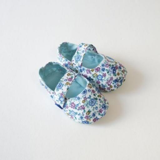 Chaussures bébé en tissu - Liberty
