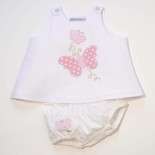 Ensemble bébé fille - Papillon rose