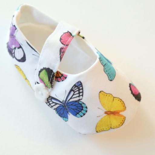 Chaussures bébé en tissu - Papillons [2]