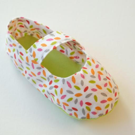 Chaussuresbébé en tissu - Élise [3]