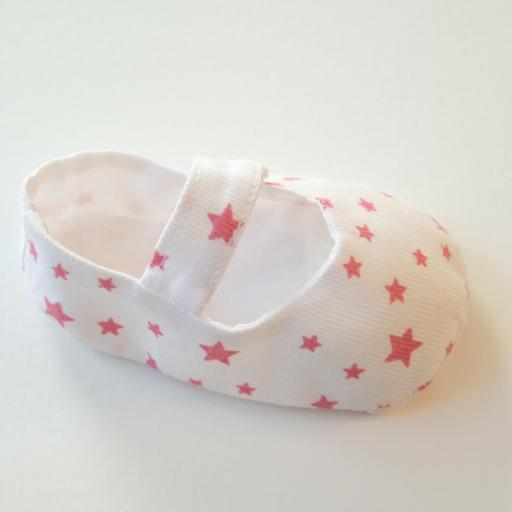 Chaussuresbébé en tissu - Étoiles [2]