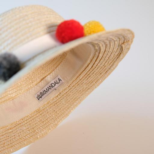 Chapeau de paille fille - Fabiola [2]