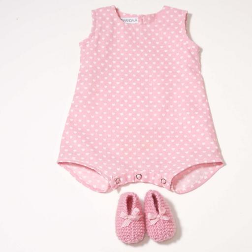 Ensemble bébé fille - Cœurs roses