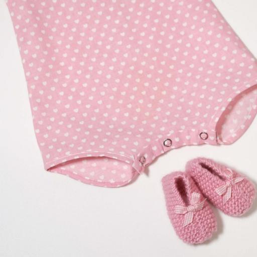 Ensemble bébé fille - Cœurs roses [1]