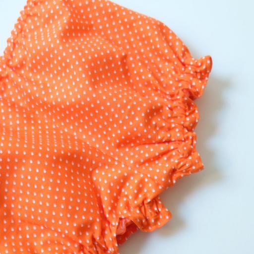 Ensemblebébé fille - Orange à pois [2]