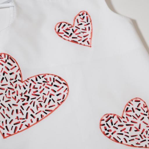 Robe fille - Cœurs tricolores [1]