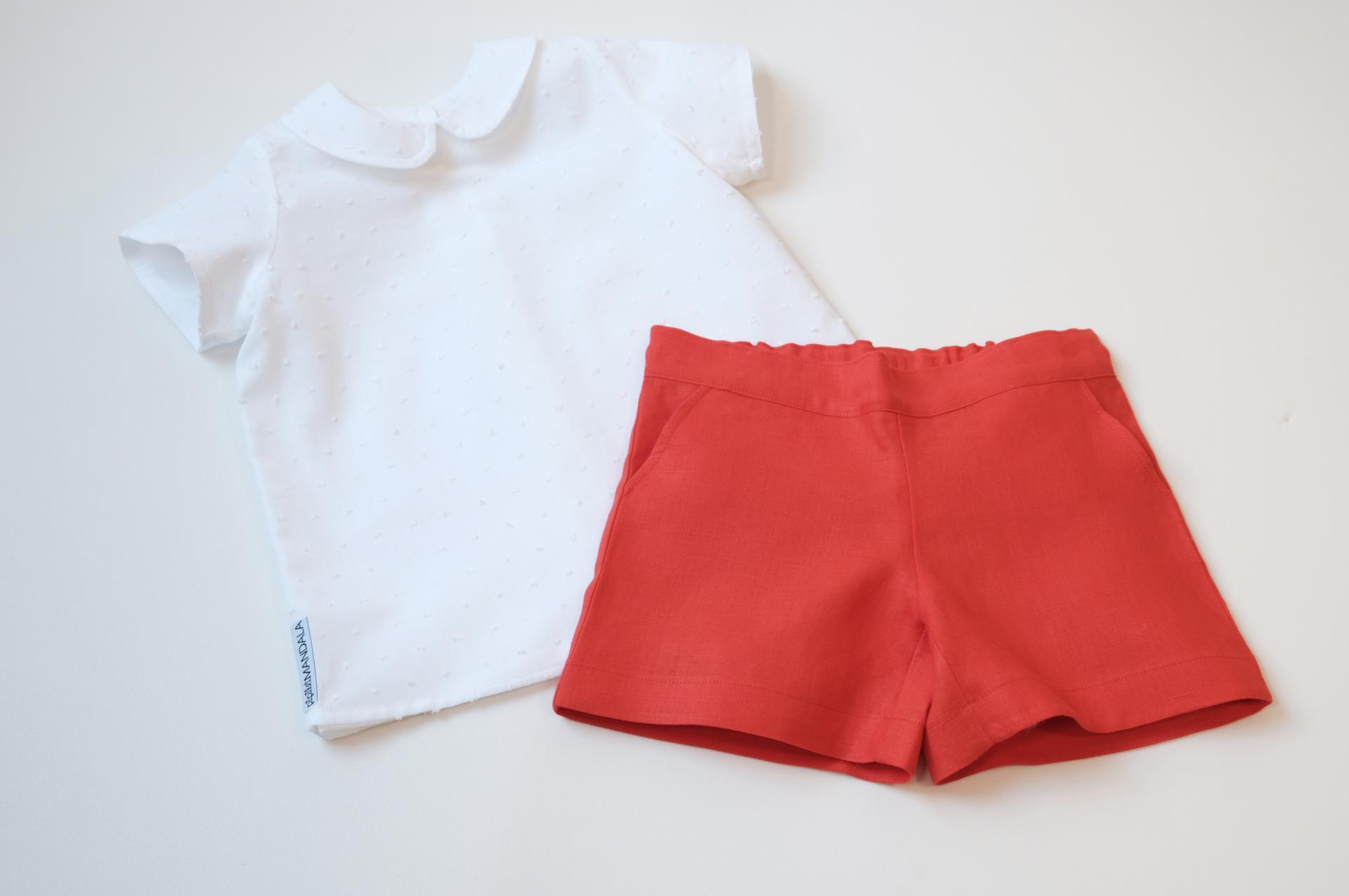 Ensemble fille - Blanc et rouge