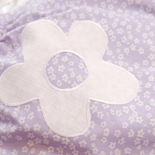 Barboteuse bébé - Mauve à fleur [2]