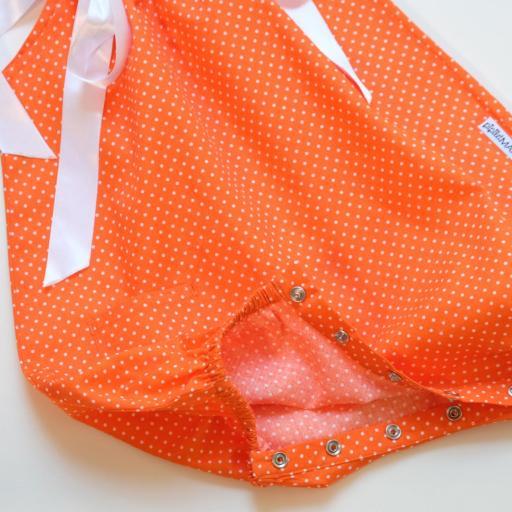 Barboteuse - Orange à pois  [1]
