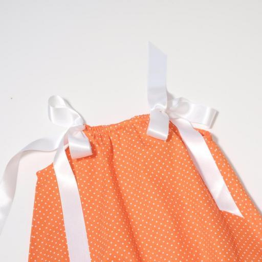 Barboteuse - Orange à pois  [2]