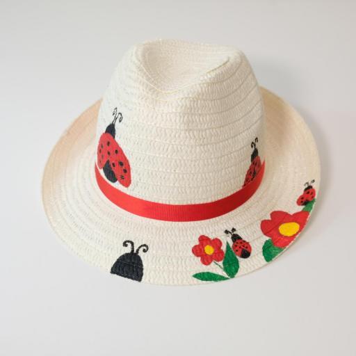Chapeau de paille - Coccinelle