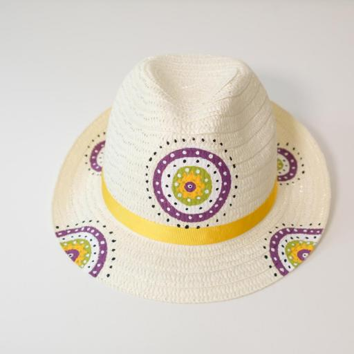 Chapeau de paille - Mandala