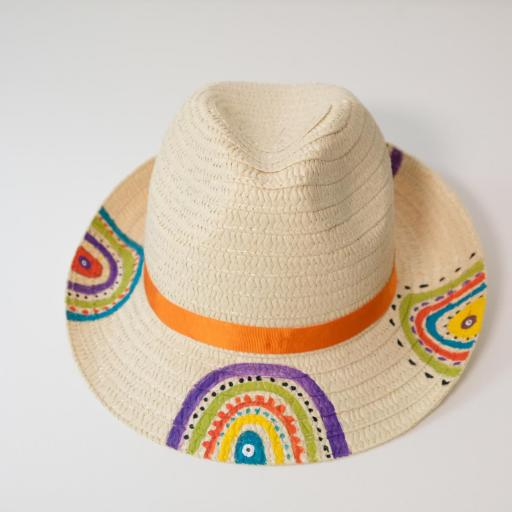 Chapeau en paille - Multicolore