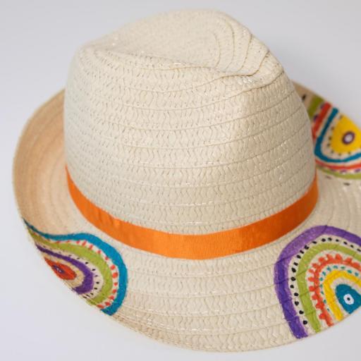 Chapeau en paille - Multicolore [1]