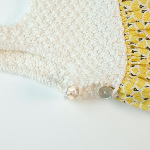 Robe fille bi-matière - Alciane [2]