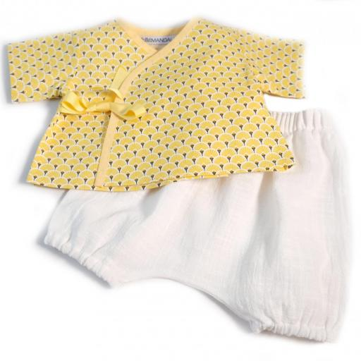 Ensemblebébé fille - Palmier jaune