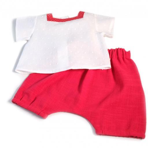 Ensemble bébé fille - Rouge et blanc