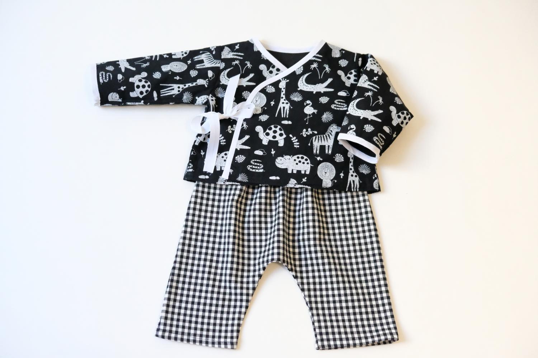 Ensemble bébé garçon - Noir et blanc