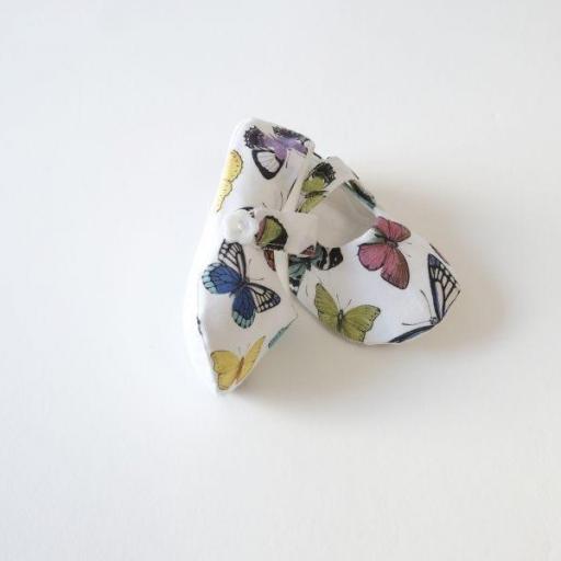 Chaussures bébé en tissu - Papillons [1]