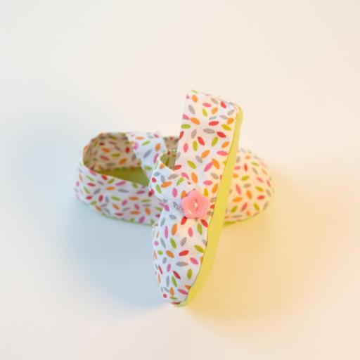 Chaussuresbébé en tissu - Élise [2]