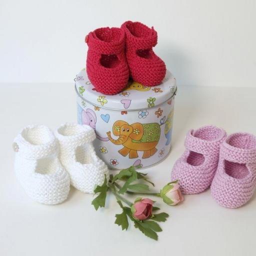Chaussons bébé à bride boutonnée [0]