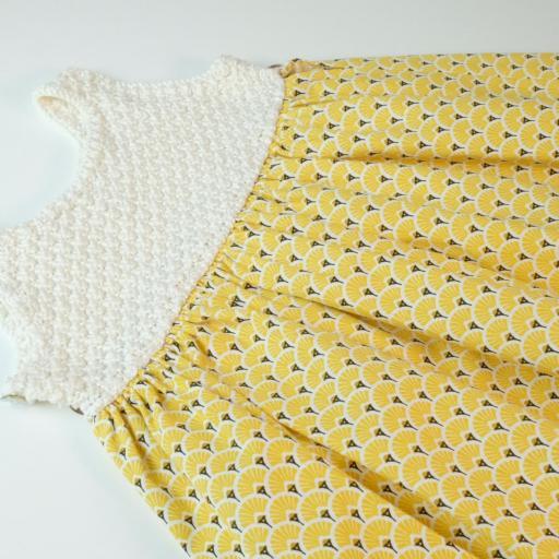 Robe fille bi-matière - Alciane [1]