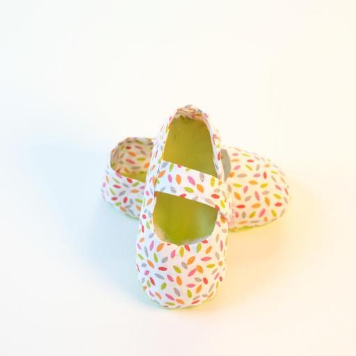 Chaussuresbébé en tissu - Élise [1]