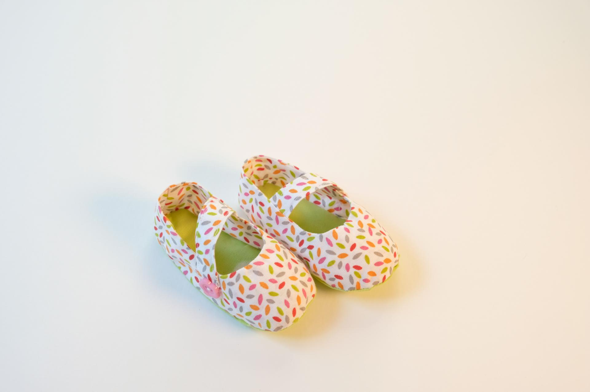 Chaussuresbébé en tissu - Élise