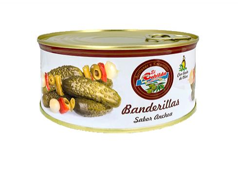 Banderillas sabor anchoa EL CABILDO lata kilo