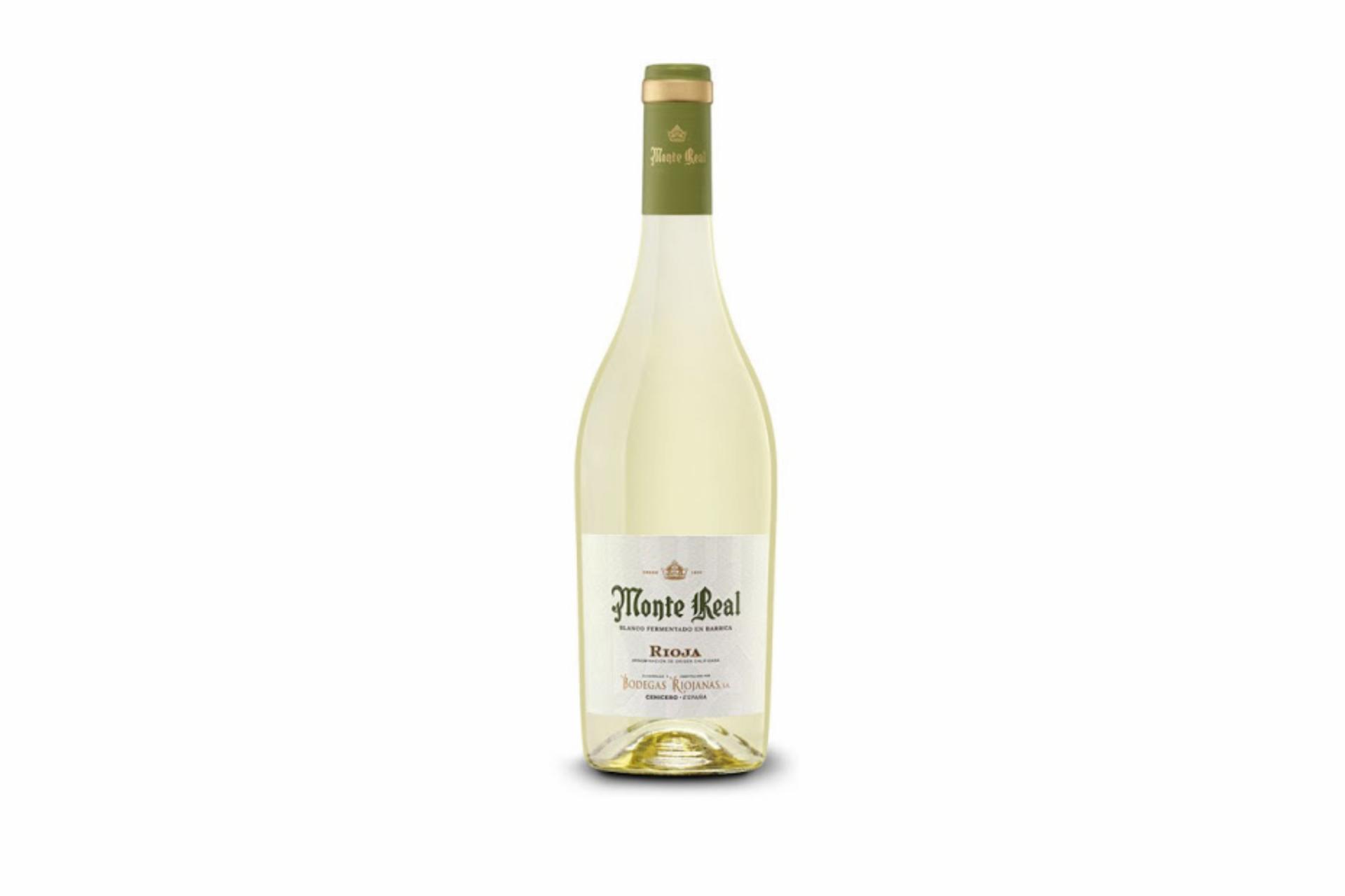 Vino Blanco Monte Real Fermentado en Barrica D.O. Rioja